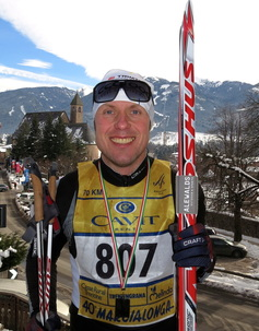 Cross country skiing with Fredrik Erixon